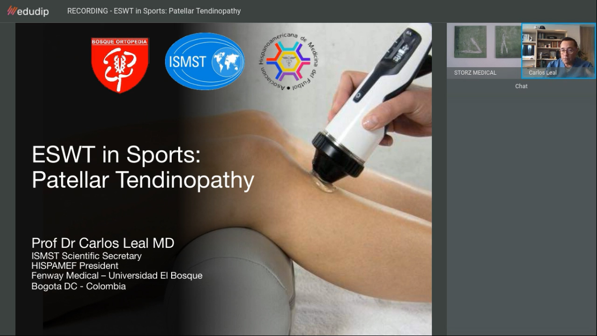 »ESWT in Sports: Patellar Tendinopathy« webinar* recording