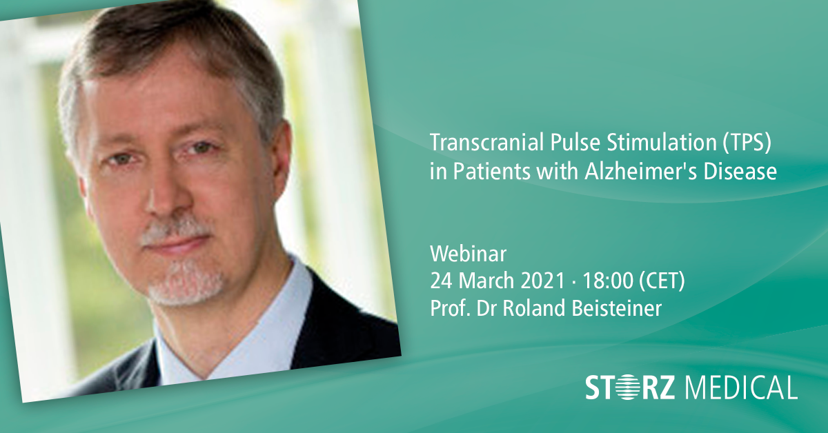 Webinaire en direct « Transcranial Pulse Stimulation (TPS) in Patients with Alzheimer`s Disease »