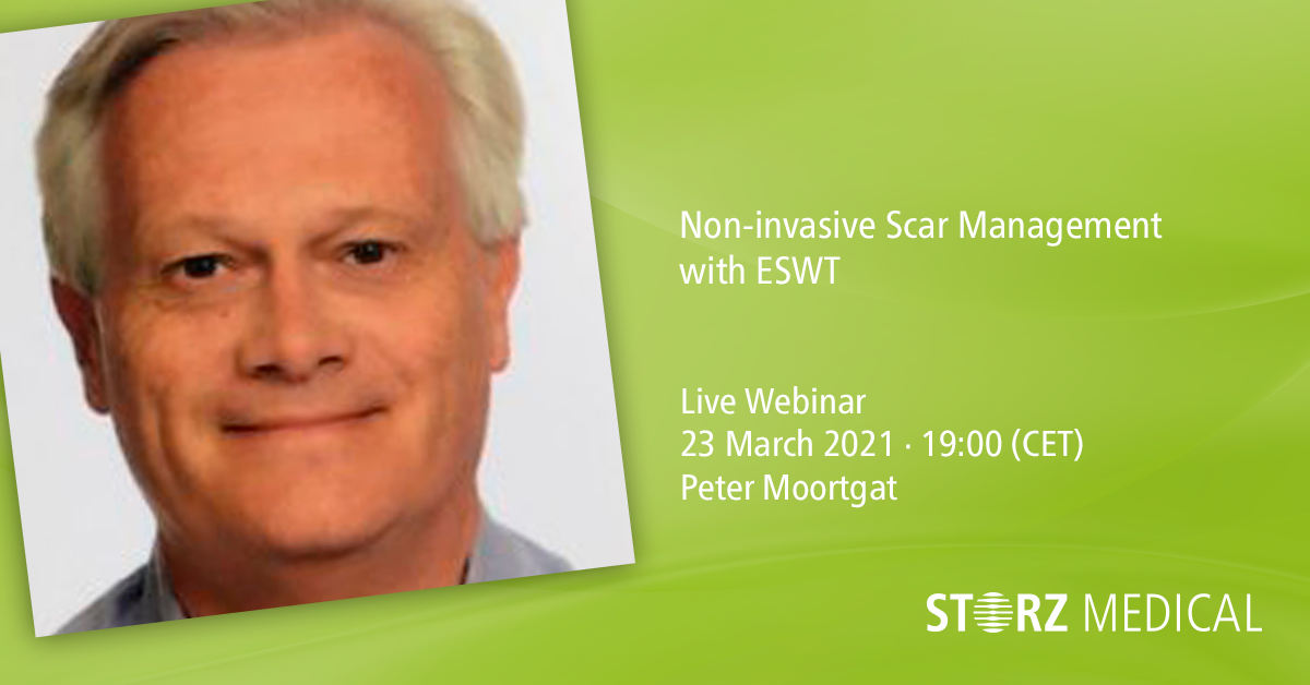 Webinar live STORZ MEDICAL »Non-invasive Scar Management with ESWT«